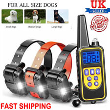 800M Remote Electric Shock Collar Pet Dog Training Anti Bark Rechargeable LCD UK