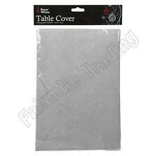Silver Table Cloth Cover Flannel Backed Dining Table Wipe Clean Xmas Decoration
