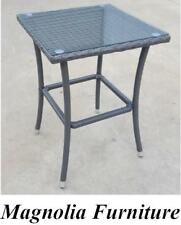 Free to SYD/MEL WICKER RATTAN FURNITURE OUTDOOR Aluminium Frame SMALL HIGH TABLE