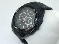 Geneva Men Watch Black Tone Japan movement Water Resistant Wrist Watch