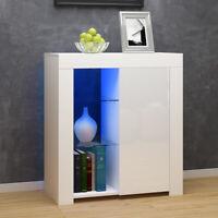 Modern Cabinet Cupboard sideboard - Matt Body and High Gloss Doors + LED Light