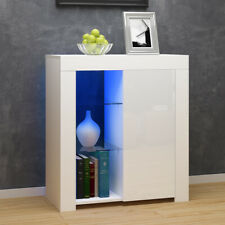 Modern Cabinet Cupboard sideboard - Matt Body and High Gloss Doors + LED Light