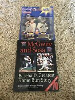 Mark Mcgwire And Sammy Sosa, Book And Starting Lineup 1998, Action Figures, Mint