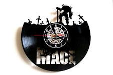 Mace design vinyl record clock bedroom playroom office shop home art