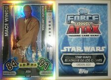 Mace Windu Limited Edition LEMA Topps Force Attax Star Wars 2017 Limitada Rare