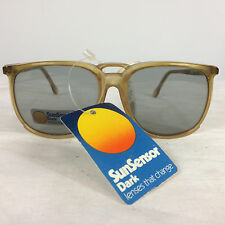Vtg 70s 80s NOS Sun Sensor Color Changing Sunglasses Aviators Beach Sport Surf