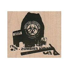 Mounted Rubber Stamp, Zombie Apocalypse Kit, Zombie, Biohazard, Survival Kit