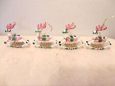 DEER Rocking Reindeer Mini Ornament Christmas Feather Tree Miniature Toy Horse
