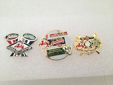 Lot of 3 Cleveland Indians Vs Milwaukee Brewers Interleague Baseball Game Pins