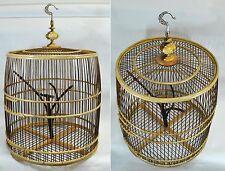 Cage à oiseaux bambou, déco int/ext, artisanale, importée de Thaïlande (12015)