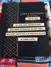NICE 1964 TO 1978 P, D, & PROOF KENNEDY HALF DOLLARS  32 COIN SET WHITMAN ALBUM