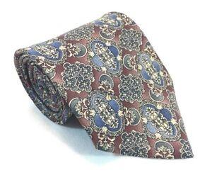 """Etienne Aigner Mens Tie Necktie 100% Silk 3 3/4"""" W 58"""" L Costa Rica Red Blue"""