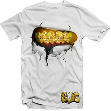 "Str8 ""Grillz"" 100% Cotton T- shirt Grillz, Boss type Gold Teeth Tee shirt S-XL"