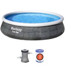 Bestway Piscina Fast Set 13'x33 Set de piscina con aspecto de ratán 3,96m x 84cm