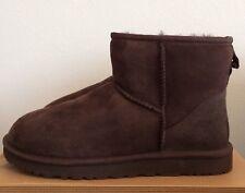 UGG Sz 10 Womens Classic Mini Boots Chocolate Brown Warm Twinface Sheepskin 5854