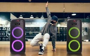 Partybox 605 Bluetooth Partylautsprecher mit Lichteffekt  Drahtlos Mikrofon