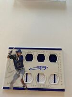 TREVOR STORY  SIX SWATCH SIGS ON CARD AUTO #/99 2016 NATIONAL TREASURES 3 Pinstr