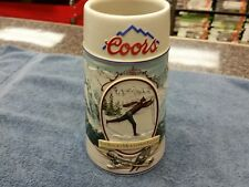 COORS COLLECTIBLE BEER STEIN 1991 THE ROCKY MOUNTAIN LEGEND SERIES Ships Free!