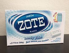 2 BOXES ZOTE JABON BLANCO Laundry Flakes17.6 OZ 500g