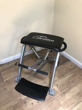 Malibu Pilates Pro Chair Exercise Workout Abs Core Buns & Thighs Black/Silver