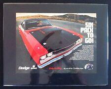 1969 Dodge Super Bee NHRA Coronet  Six Pack car ad MOPAR print/gift 1968 1970