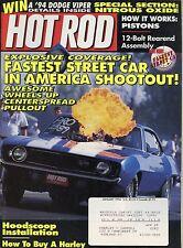 Hot Rod Magazine January 1994 Hoodscoop Installation / How Pistons Work