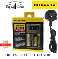 AUTHENTIC Nitecore i4 NEW Intelligent Multi Battery Charger for 18650 20700....