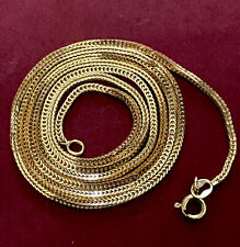 """Vintage Solid 14k Gold Snake Foxtail Wheat Link Chain Necklace 22"""" 5.03 G 2mm"""