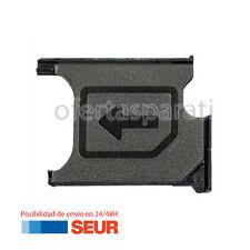 Repuesto Bandeja Porta Tarjeta Sim para Sony Xperia Z1 L39H C6902 Negro