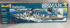 revell 1/570 05036 battleship bismarck model ship kit contents sealed