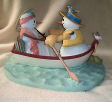 Lenox SNOWMAN SNOWFLAKE SOIREE Boat Couple Canoe LYNN BYWATERS Figurine LTD ED