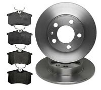Audi A1 (2010-) 1.2 1.4 1.6 TDi TFSi REAR 2 BRAKE DISCS AND PADS SET NEW
