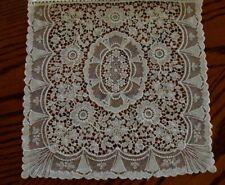 EXQUISITE Vintage CHEMICAL Lace Linen Handkerchief Case Wedding Hanky Case