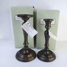 """New Restoration Hardware Antique Bronze Gweneth 10"""" Pillar Holder 9""""Taper Holder"""