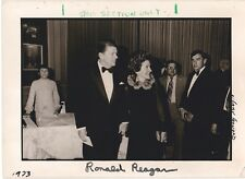 Authentic Ronald Reagan Autograph with Nancy Reagan 1973 Photographer Signed