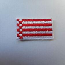 mini Bremen Patch Aufnäher,Aufbügler, 3,5  * 2,0 cm  Flagge,Flag,Speckflagge