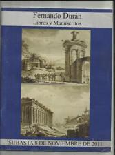 LIBRO CATÁLOGO SUBASTA LIBROS Y DOCUMENTOS,MANUSCRITOS Y OTROS.FERNANDO DURÁN 6