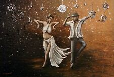 "BIGSALE! Original painting ""The Dancers"" by Kathryn Edwards - Welsh Artist"
