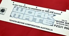 TOYOTA HILUX WORKMATE DECAL FRONT DOOR ONE ONLY FROM SEPT 2011 - JULY 2015