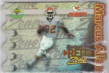 """Marcus Allen 1997 Upper Deck Authenticated Navigating """"Red"""" Zone Insert Card"""