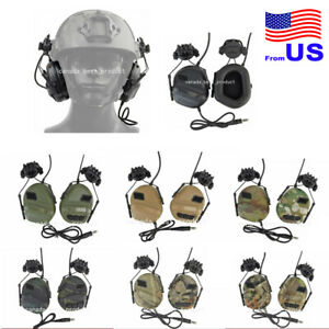 Tactical Military Waterproof Helmet Headset with Sound Pickup & Noise Reduction