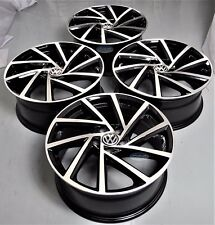 "18"" 2018 GOLF R STYLE BLACK WHEELS RIMS FITS VW GOLF MK5 MK 6 MK7 JETTA 1361 BM"