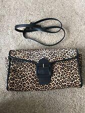 LK Bennett Animal Print Clutch Handbag Cross Body Bella