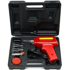 Biltek 7 Pcs Soldering Gun Kit w/ Case Iron Solder 100 W Professional Style Flux