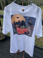 vintage Home Made Trick Treat Halloween t shirt Extra Large Fruit Of The Loom