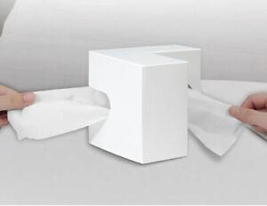 Portable Resin Nordic Right Angle Desktop Napkin Paper Storage Case Tissue Box