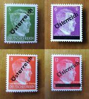 EBS Austria 1945 1st Vienna Provisionals - Hitler Overprinted - Mi. 660-663 MH*