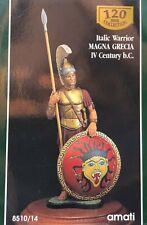 1/16 120MM RESIN FIGURE AMATI ITALIC WARRIOR MAGNA GRECIA IV CENT. B.C.. NEW.