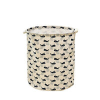 Waterproof Canvas Foldable Laundry Washing Clothes Hamper Basket Bin Storage Bag