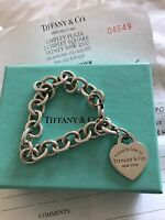 Tiffany & Co. Return To Tiffany Sterling Silver 925 Heart Tag Bracelet RP$510